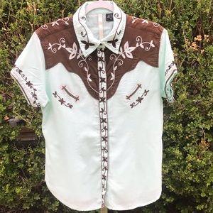 Martini Ranch Pearl Snap Western Shirt Size  XL